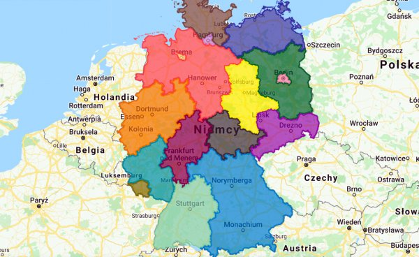 Koronawirus w Niemczech: zawieszenia zakazów dla ciężarówek w poszczególnych landach [mapa interakty