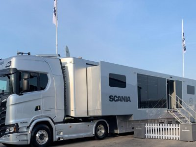 We know where the Scania cafe truck will turn up tomorrow. Pop in for a coffee or tea!