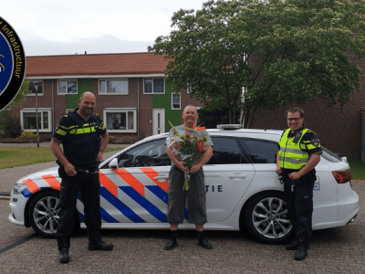 Why did the trucker get flowers from the Dutch police?