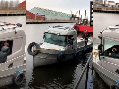 Egy Scania kabin újjászületése: most elhajózhatsz vele szebb vizekre [videó]