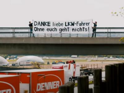 Königliches Dankeschön an Lkw-Fahrer in der Schweiz. Sie wurden mit rotem Teppich und leckerem Essen begrüßt