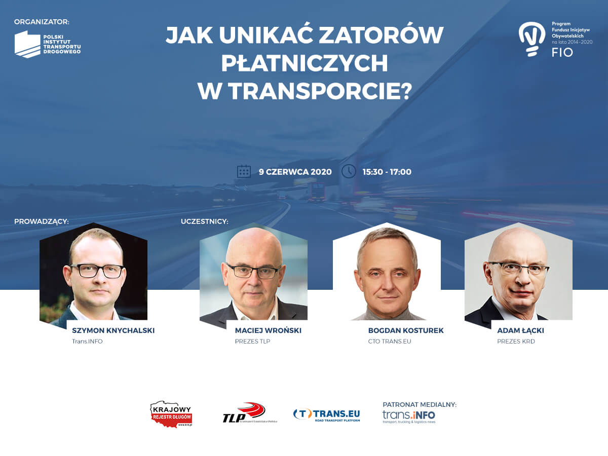 Debata online o długach w branży transportowej