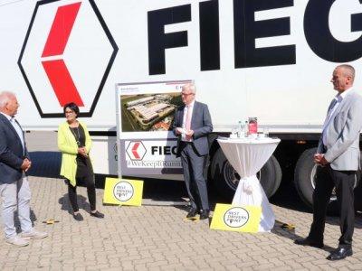 """Faire Arbeitsbedingungen für Lkw-Fahrer. Fiege erhält den Titel """"Best Drivers Point"""""""
