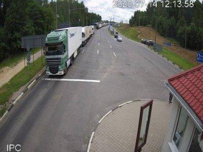 Baltarusijos pasienyje su Lietuva – sunkvežimių eilės. Punktuose laukia apie 520 sunkiasvorių automobilių