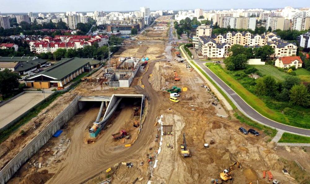 Wideo-przejażdżka przez tunel na budowanej Południowej Obwodnicy Warszawy