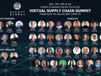 Virtualus aukščiausiojo lygio susitikimas, skirtas tiekimo grandinėms. 50 pranešėjų, 20 valandų pranešimų
