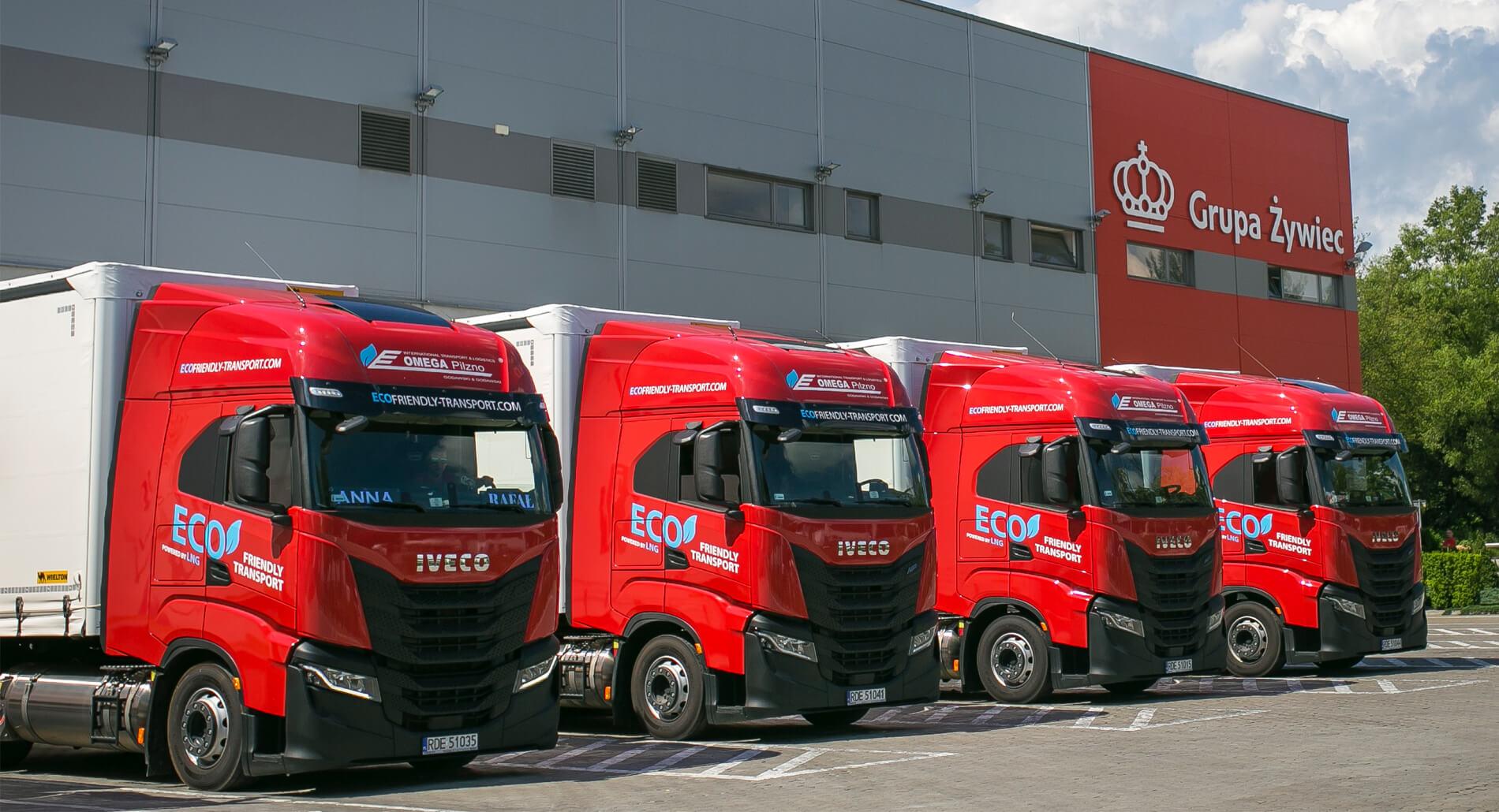 Piwo od Żywca będą wozić ciężarówki na gaz