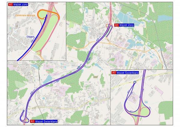 Dzisiaj od godz. 22, na węźle Żory autostrady A1 będą prowadzone pilne prace naprawcze. Drogowcy zam