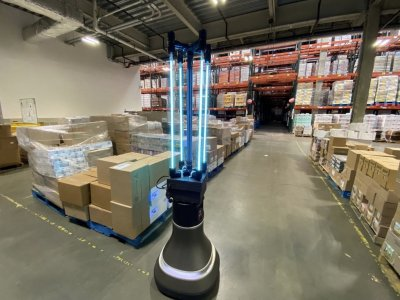 CSAIL robot disinfects The Greater Boston Food Bank to fight Covid-19