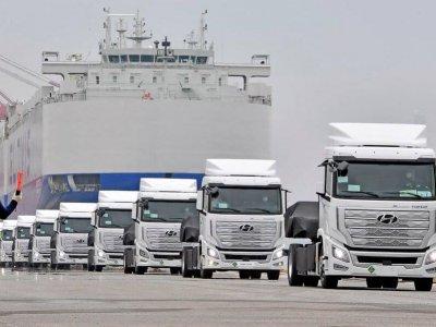 Hyundai отправила в Европу первые грузовики на водороде. Они проходят 400 км без дозаправки