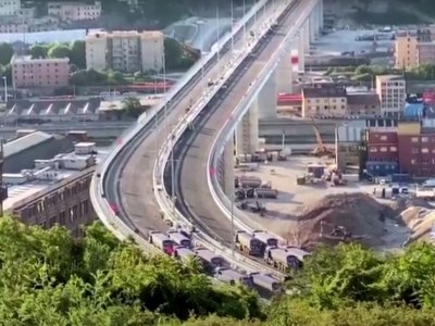 Italy: static testing of the giant Morandi Bridge in Genoa