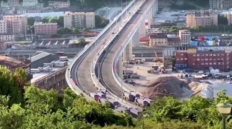 Italy: static testing of the giant Morandi Bridge in Genoa