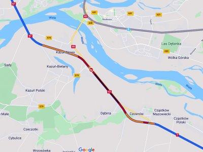 Zamknięta S7 w kierunku Warszawy. Wyznaczono objazdy