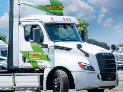 First delivery for Walmart with a fully electric truck checked