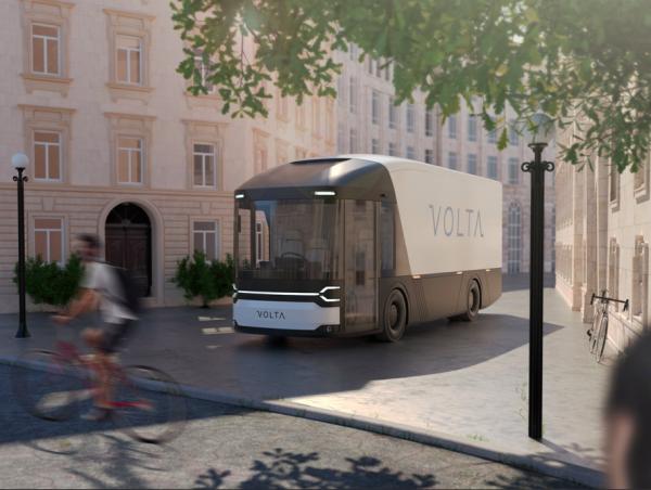 Ciężarówki przyszłości w Londynie. Wyglądem przypominają autobusy, ale kierowca siedzi po środku kab