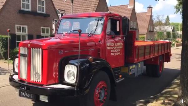 Wyjątkowa niespodzianka dla dziadka. Odrestaurowana Scania z 1972 r. w prezencie na 91. urodziny