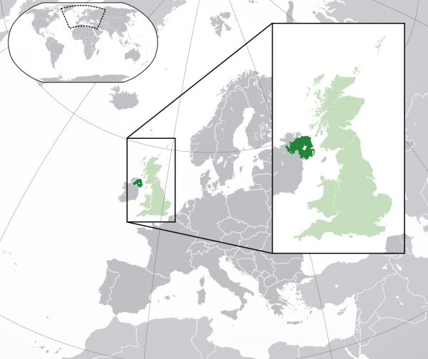 Route 5: shipping from Ireland to Great Britain via Northern Ireland. Export and import processes af