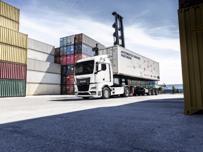 A fully automated truck will change container transhipments in Germany?