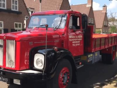 Besondere Überraschung für Großvater. Ein restaurierter Scania von 1972 als Geschenk zum 91. Geburtstag