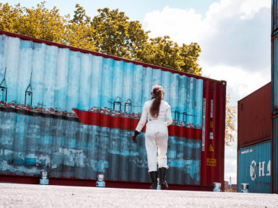 Unique container carries strong message on its way around the world