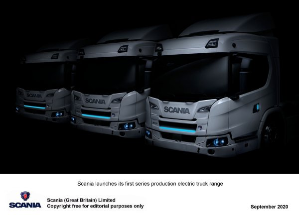 Scania reveal new fully electric and a plug-in hybrid trucks