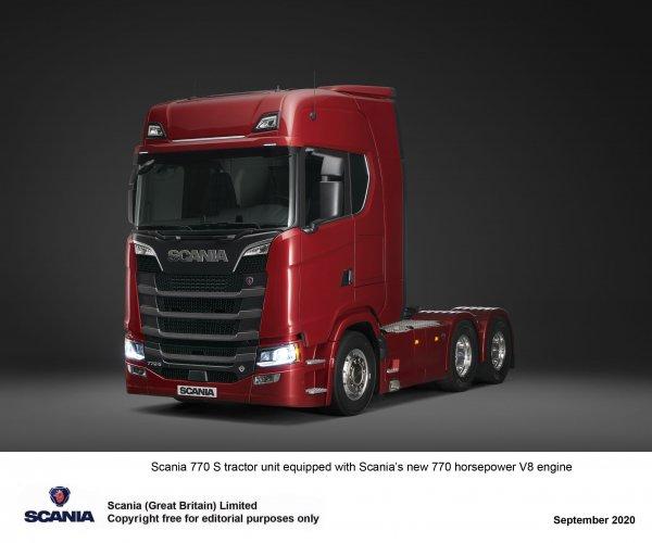 New Scania V8 trucks offer 770 horsepower and better fuel-efficiency
