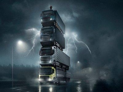 Вы помните рекламу, в которой президент компании Volvo Trucks стоял на башне из грузовиков? Скоро вы увидите эти модели в живую
