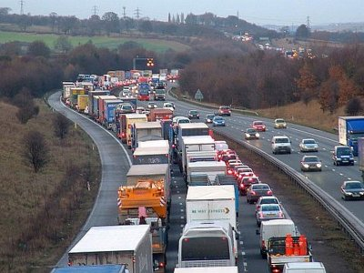 Leaked government report: queue of 6,500 HGVs could hit Kent in January