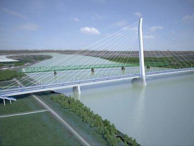 Naujasis tiltas virš Dunojaus atviras sunkiajam transportui