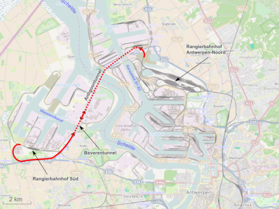 Changes in the use of Beveren Tunnel, Antwerp. Some ADR transports will be not allowed to use it