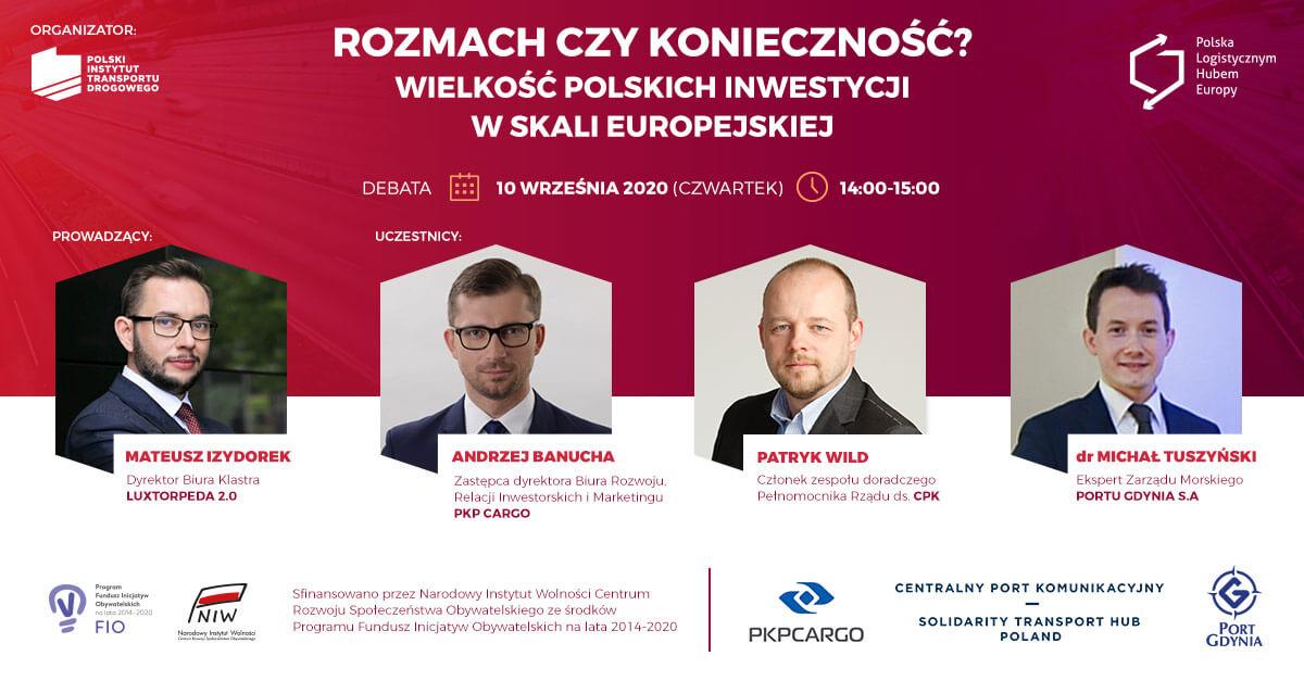Wielkie inwestycje w Polsce. Czy naprawdę ich potrzebujemy? [Debata online]