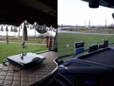Последствия загроможденной приборной панели в кабине грузовика. Наказание понесли и водитель, и перевозчик