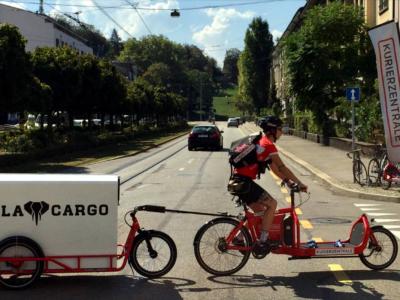 Mit diesen Fahrradanhängern können… 150 Kilogramm befördert werden