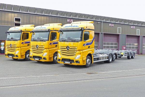 Die Schuon Gruppe folgt der Green-Logistics-Strategie und investiert 5 Millionen Euro in seine Flott