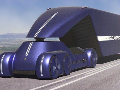 """Шоссейный грузовик """"Атлантис"""" от российских дизайнеров. Чудо-грузовик с технологией наших дней"""
