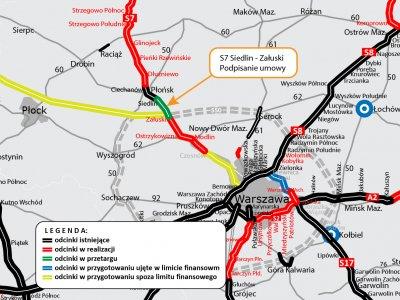 Kontrakt na budowę kolejnego odcinka ekspresówki na Mazowszu podpisany