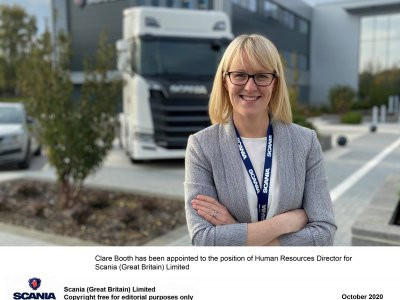 Clare Booth is the new HR director of Scania UK