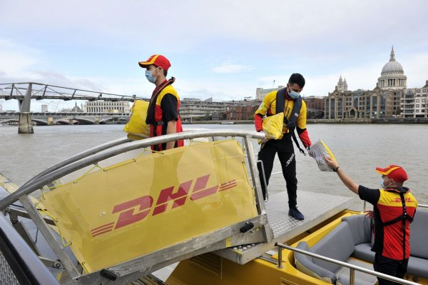 Electric van, riverboat then bike – DHL goes green in London