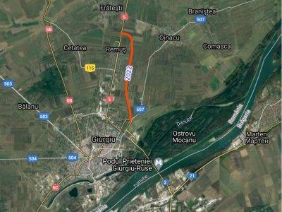 Drumul de legătură București-Giurgiu DN5 bate pasul pe loc