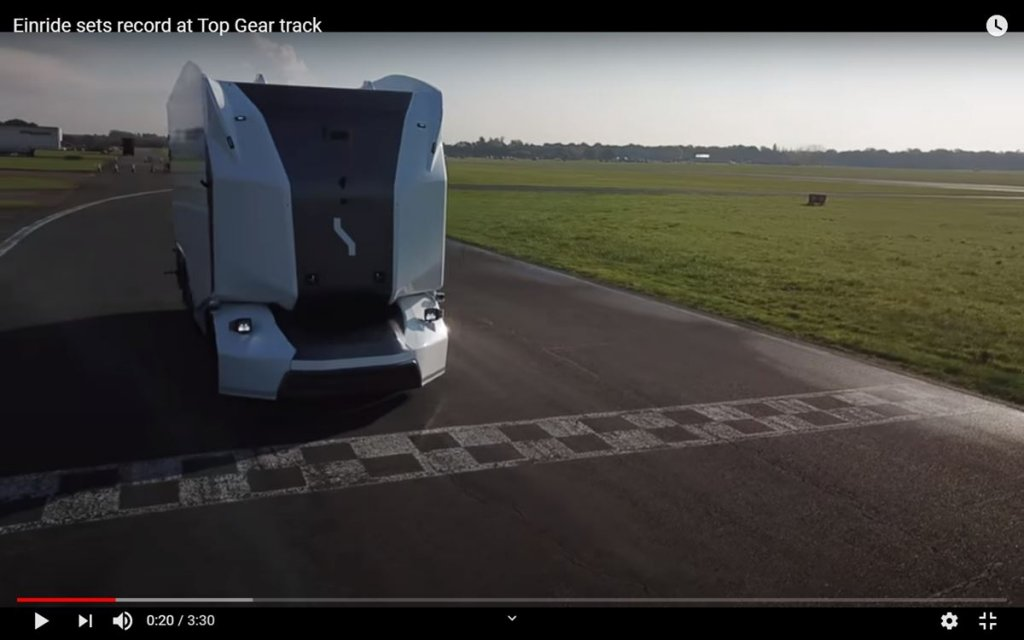 The Einride Pod rounds the Top Gear track, but is it faster than a Prius?