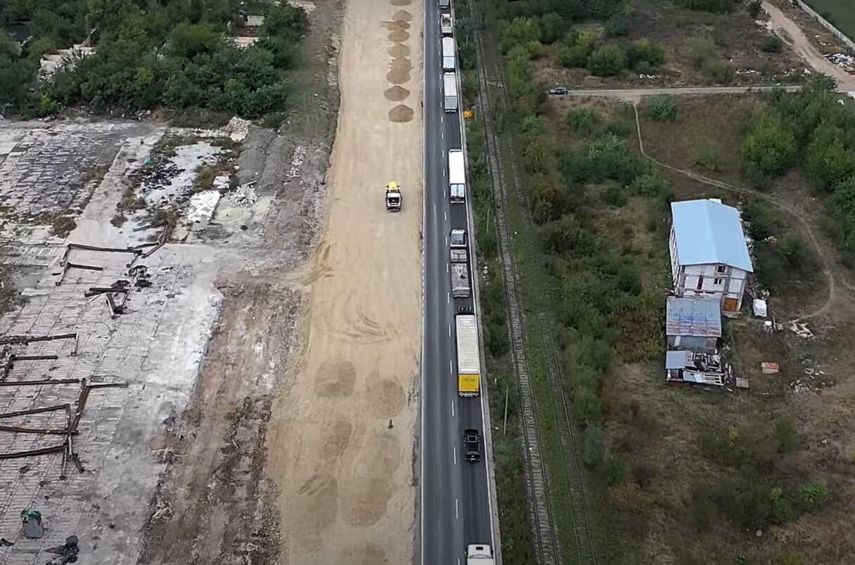 La giratoriul suspendat de pe centura capitalei la Domnești avansul lucrărilor e de 10%