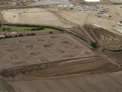 Kent lorry park construction held back by rain