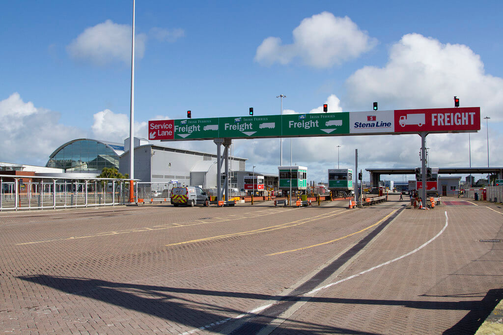 Lorries heading from Ireland to Wales must go to England for customs control