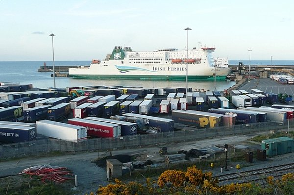 Lorry freight transport from Ireland to Britain falls by a third post-Brexit