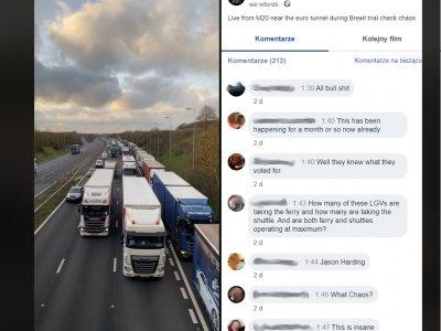 Nieco ponad minuta na odprawę graniczną jednej ciężarówki i kolejka na 8 km gotowa
