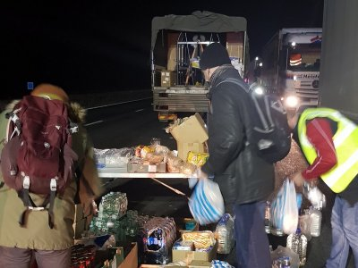Community effort helps lift spirits of truckers stuck at Manston and on the M20