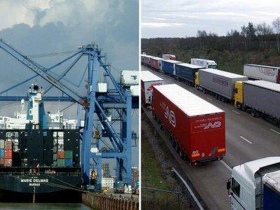 Didžioji Britanija svarsto galimybę pradėti testuoti į Prancūziją vykstančių sunkvežimių vairuotojus