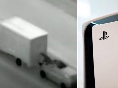 Az autópályán menet közben rabolják ki a játékkonzolt szállító teherautókat (videóval)