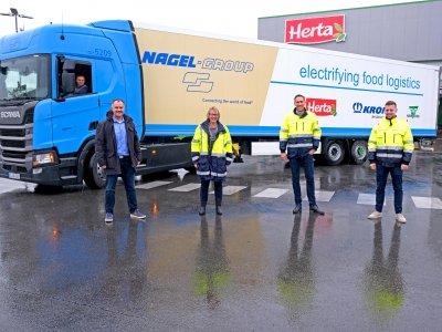 A Nagel-Group és egy húsipari gyártó egy teljesen elektromos pótkocsit tesztel