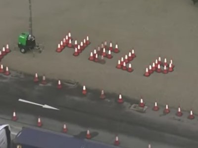 Truckers spell out 'Help' using traffic cones as Manston horror show continues